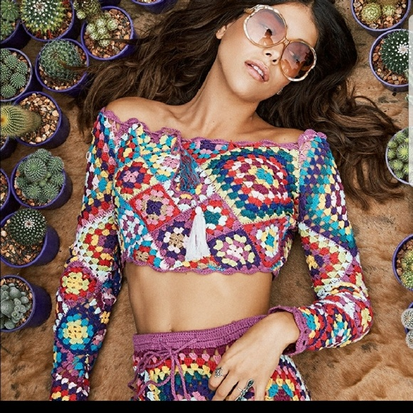 Tops - KEEPING!!  Spell Carnaby Crochet Crop Top only